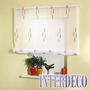 Raffvorhang und Fensterdekoration