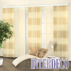 Schiebevorhang und Flächenvorhang für die Gardinendekoration