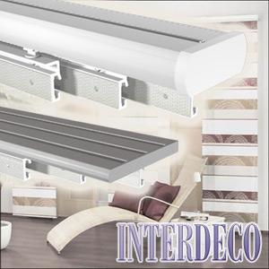 vorhangschiene und gardinenschiene f r dekorative schiebevorh nge. Black Bedroom Furniture Sets. Home Design Ideas