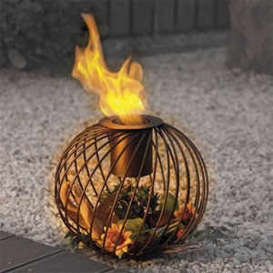 Ein gemütliches Gartenfeuer.