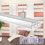 Aluminium Vorhangschienen – Zubehör für die Schiebegardinen