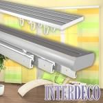 Gardinenschienen für Flächenvorhänge und moderne Gardinen