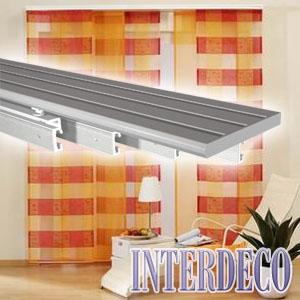 mehrl ufige fl chenschienen f r fl chenvorh nge und andere. Black Bedroom Furniture Sets. Home Design Ideas