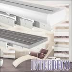 Vorhangschiene und Gardinenschiene für dekorative Schiebevorhänge