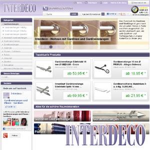 Neuer Shop von Interdeco.de