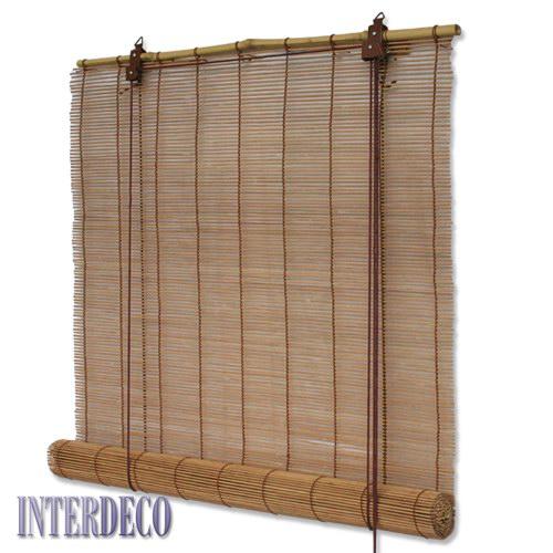 gardinen deko bambus rollo f r gardinenstange gardinen. Black Bedroom Furniture Sets. Home Design Ideas