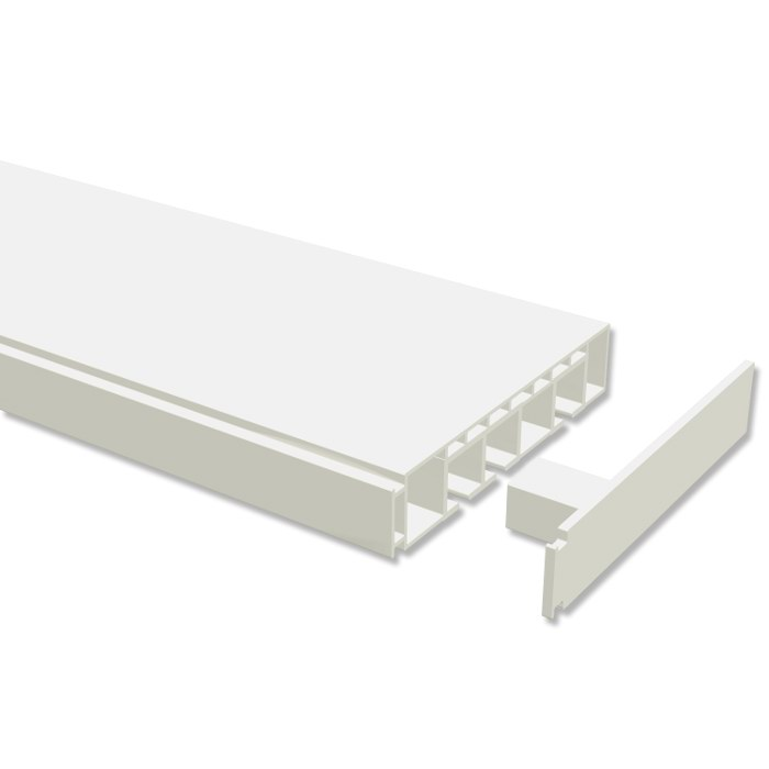 kunststoff gardinenschienen gardinenleisten wei 1 2 u 3 l ufig g nstig ebay. Black Bedroom Furniture Sets. Home Design Ideas