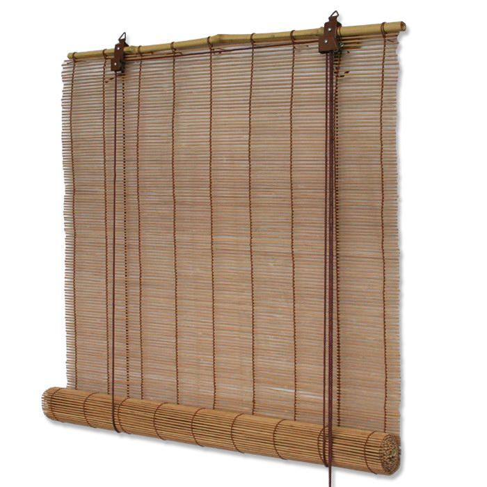 bambusrollos bambus rollo in natur oder braun mit schnurzug viele gr en ebay. Black Bedroom Furniture Sets. Home Design Ideas
