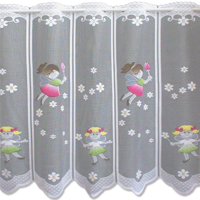 kinderzimmer scheibengardinen / bistrogardine, 60 cm hoch