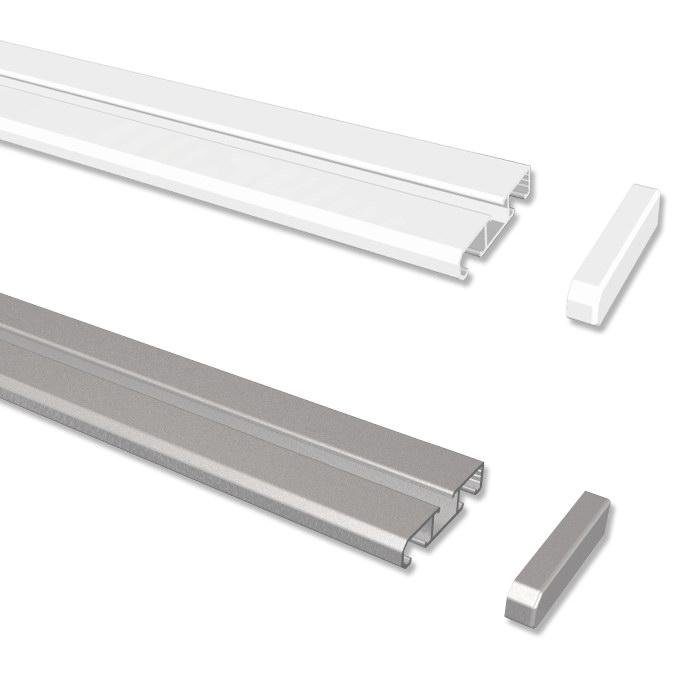 Beliebt Gardinenschiene / Vorhangschiene aus Aluminium weiß o. alufarbig WQ68