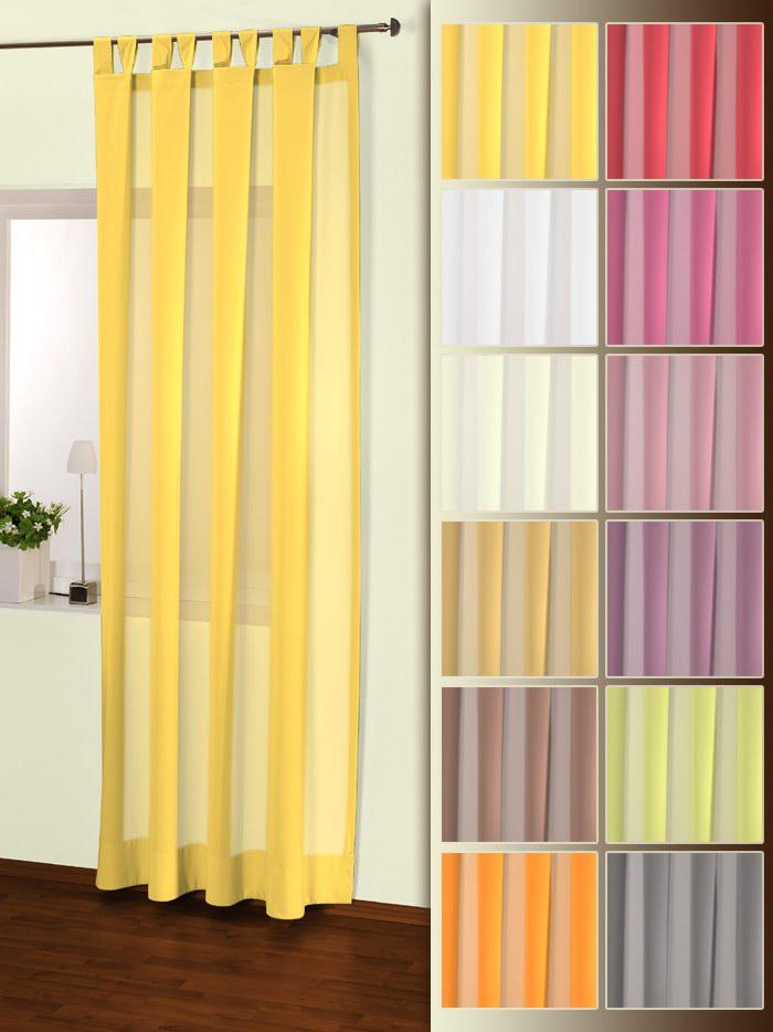 BxH 135 x 235 cm Mira Schlaufenvorhang in Gelb 50 Interdeco Schlaufenschal