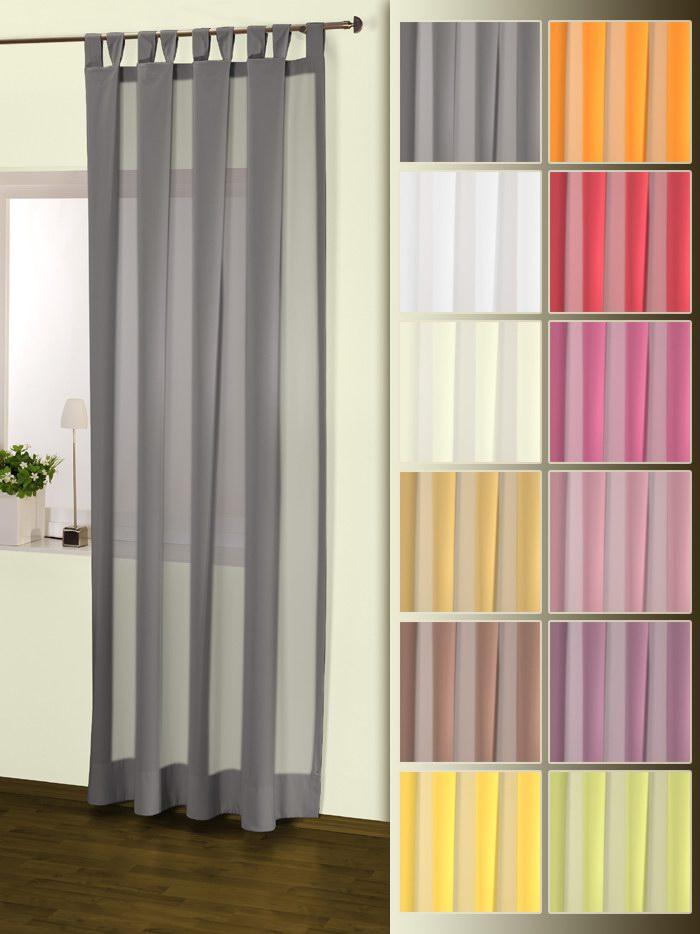 Voile Vorhänge in 135x235 cm Schlaufenschals // Gardinenschals a. Grau u