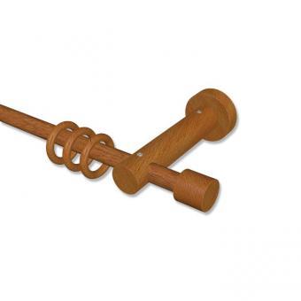 Gardinenstange Holz 16 mm Ø ADRIAN - Pin Kirschbaum lackiert 200 cm