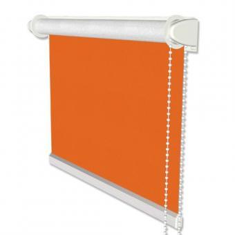 Klemmfix Seitenzugrollo / Thermorollo SZ3 verdunkelnd Uni Orange Fb. 3012 41,5x175 cm