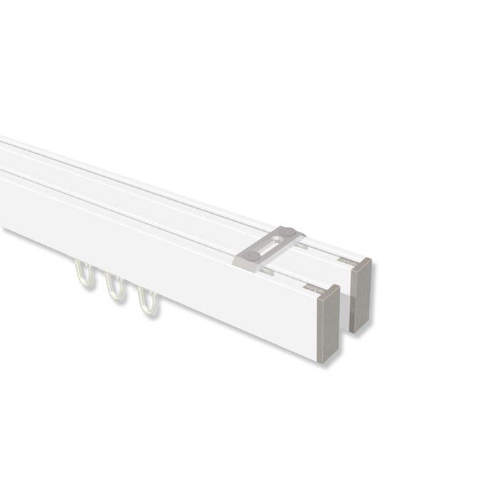 Sehr Innenlauf Gardinenstange Deckenmontage Aluminium / Metall eckig DQ35