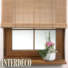 Bambusrollos im asiatischen Stil.