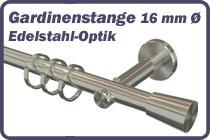 Gardinenstange 16 mm � Edelstahl-Optik