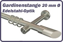 Gardinenstange 20 mm � Edelstahl-Optik
