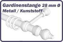 Gardinenstange Metall 28 mm Ø