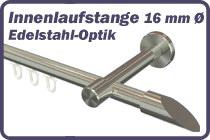 Innenlaufstange Edelstahl-Optik 16 mm �