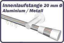 Innenlaufstange Aluminium / Metall 20 mm �