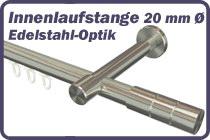 Innenlaufstange Edelstahl-Optik 20 mm �