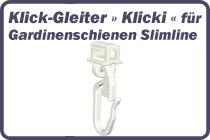 Klick-Gleiter f�r Gardinenschienen Slimline