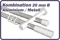 Rundrohr-Innenlaufstange Aluminium / Metall 20 mm Ø