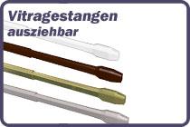 Vitragestangen Metall - Kunststoff