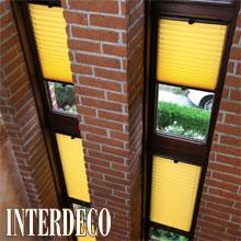 Plissee in Gelb - Sonnenlicht für die Fenster.