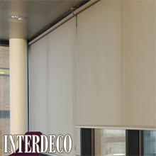 Beige Rollos - warme Farben für die Fenster.