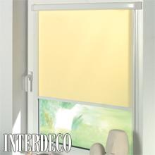 Gelbe Rollos - freundliche Farben für die Fenster.