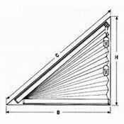 plissee sonderformen schr ge u trapezf rmige faltstores. Black Bedroom Furniture Sets. Home Design Ideas