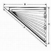 Plissee FD Slope 4 mit Schnurzug für dreieckige Fenster