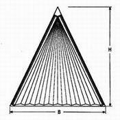 Plissee SD 3 Dreieck für dreieckige Fenster