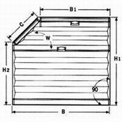 Plissee VS 5 Fünfeck mit Bediengriff für fünfeckige Fenster