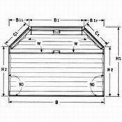 Plissee VS 6 Sechseck mit Bediengriff für sechseckige Fenster