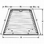 Plissee VS 7 Trapez mit Bediengriff für trapezförmige Fenster