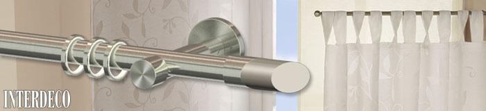 Vorhangstangen als moderne Fensterdekoration